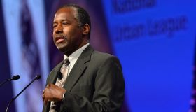 Dr. Ben Carson speaks during the Presidential Candidates Plenary