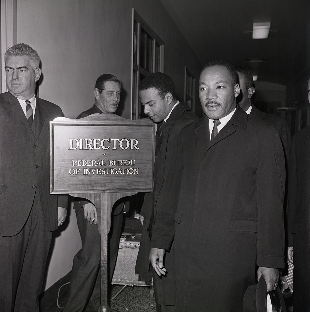 Martin Luther King Arrives at FBI Office