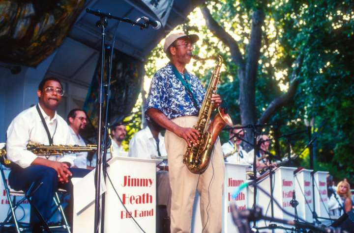 Jimmy Heath performs at the 4th Annual Charlie Parker Jazz Festival