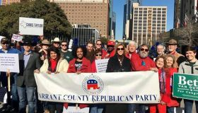 Tarrant County Republican Party white power hand sign