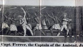 newspaper's depiction of the Revolt on the Amistad was a small, two-mastered schooner. Built in Spain and based in Havana, it moved general cargo along the Spanish ports of the Caribbean.