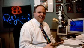 Rush Limbaugh in His Studio During His Radio Show