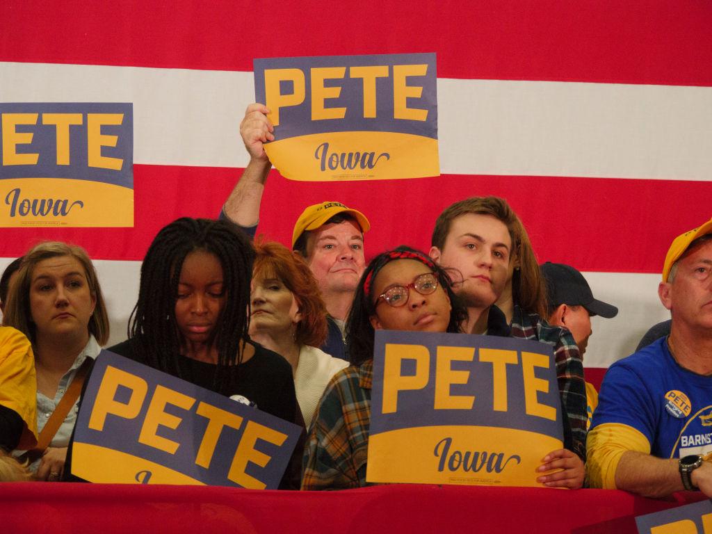 Pete Buttigieg Campaigns before Iowa Caucus in Des Moines, USA