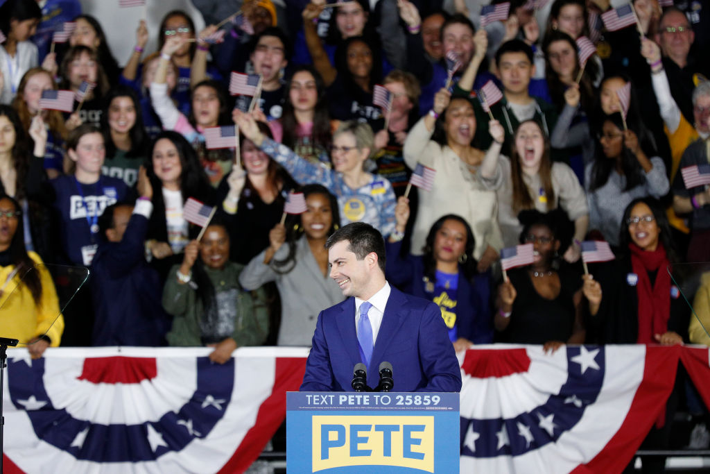 Pete Buttigieg Holds Watch Party Event On Night Of Iowa Caucus