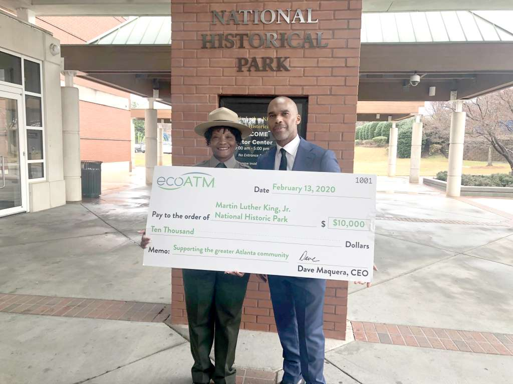 ecoATM Celebrates Black History Month with $10,000 Donation to Martin Luther King, Jr. National Historic Park