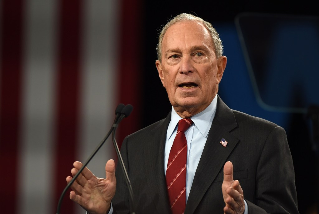Mike Bloomberg in attendance for Women f...