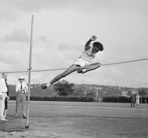 Alice Coachman Performing the High Jump