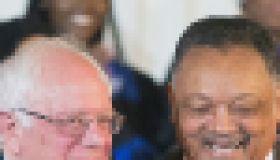 Democratic Presidential Candidate Bernie Sanders Attends Rainbow PUSH Coalition Weekly Forum