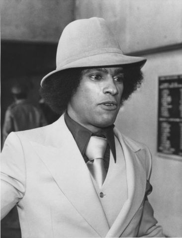 Oakland, CA February 17, 1978 - Huey Newton at Merritt Community College. (Bill Crouch / Oakland Tribune Staff Archives)Published August 23, 1989