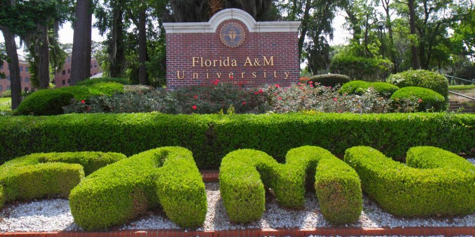 Florida A&M University entrance sign.