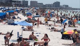 Clearwater Beach, Florida amid coronavirus fears
