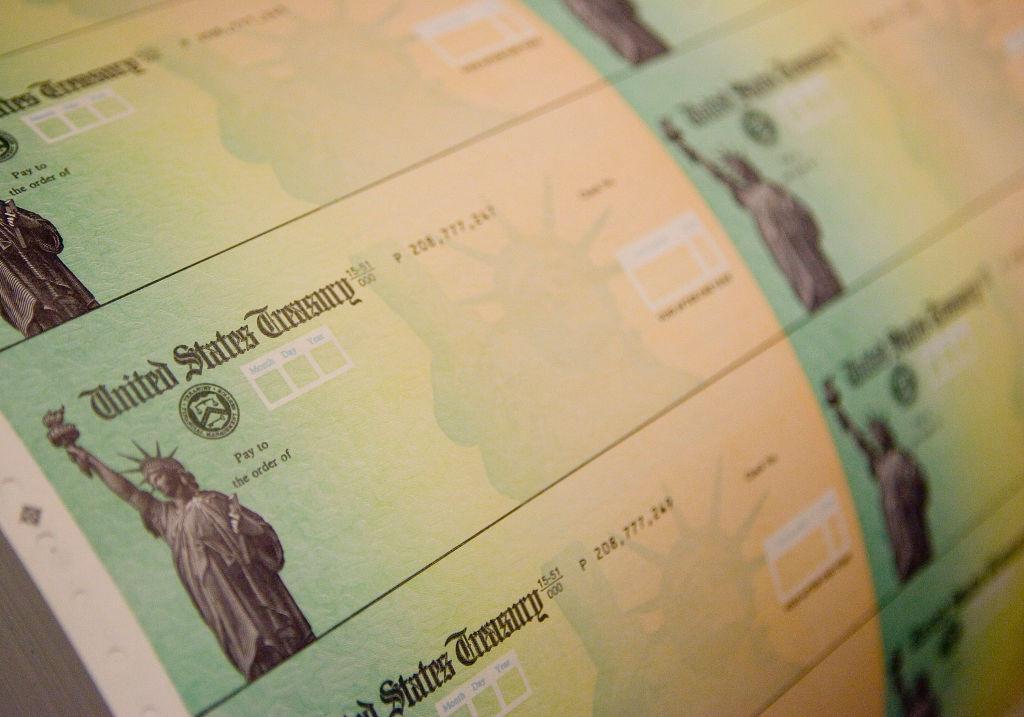 Economic Stimulus Package Tax Rebate Checks Printed