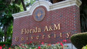 Florida A&M University entrance sign.