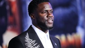 Actor Kevin Hart wearing Alexander McQueen arrives at the World Premiere Of Columbia Pictures' 'Jumanji: The Next Level' held at the TCL Chinese Theatre IMAX on December 9, 2019 in Hollywood, Los Angeles, California, United States.