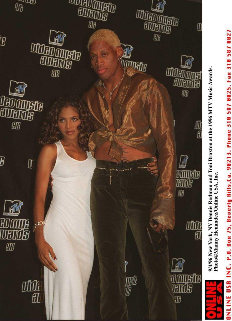 Dennis Rodman And Toni Braxton At The 1996 MTV Music Awards