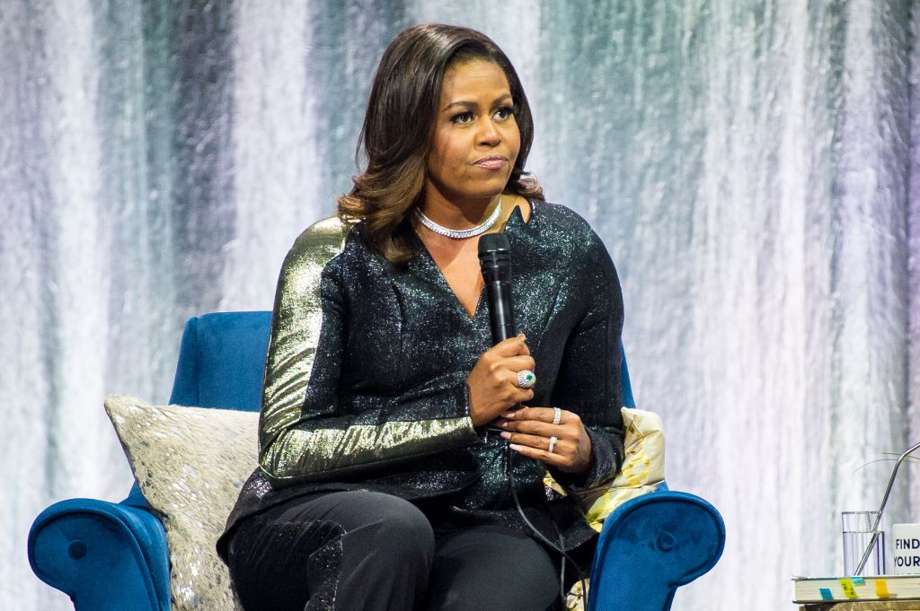 Michelle Obama attends 'Becoming' launch