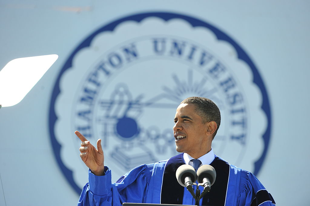 President Barack Obama Delivers the Commencement Address at Historically Black Hampton University