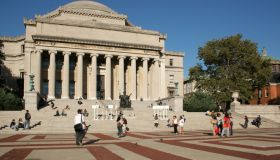 Plaza in front of Low Library in Columbia University's main campus, Morningside Heights, New York City, USA