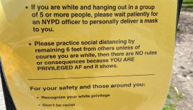 White privilege social distancing sign