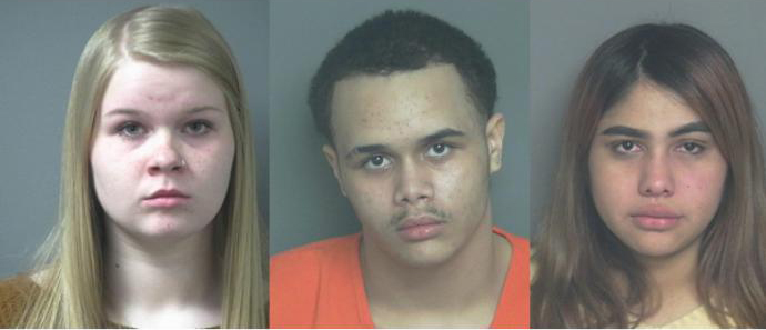 Ruby Jimenez Nevarez, Chase Passon and Alexis Strenke, charged in Jacob Gunderson's beating in Eau Claire, Wisconsin