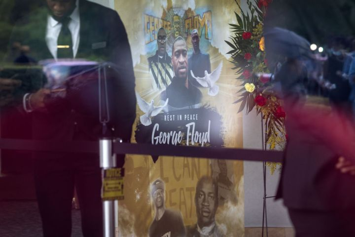 George Floyd's public viewing held in Houston, Texas