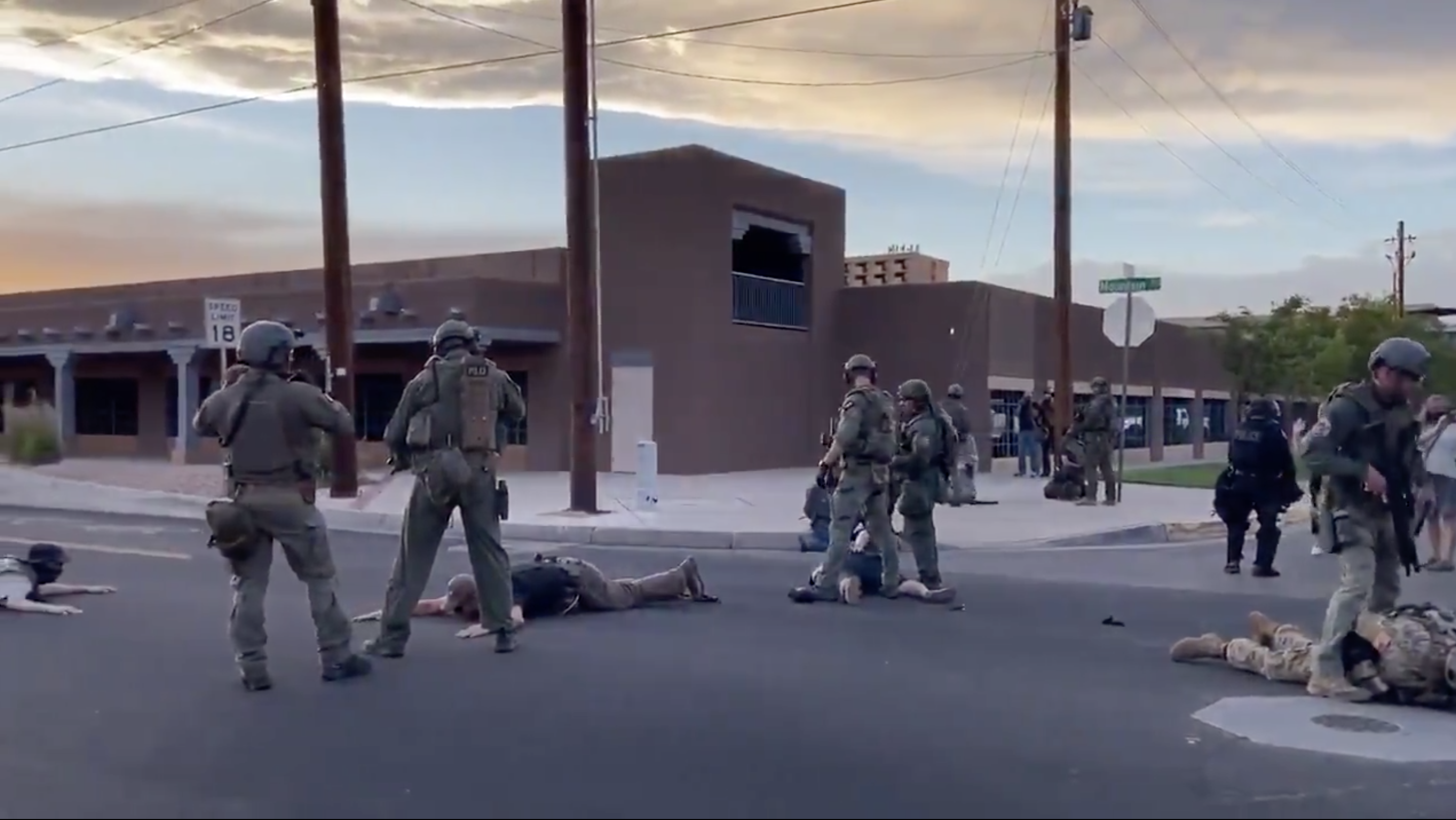 Cops Don't Arrest Any Armed, Violent White Thugs After Shooting At Protest In New Mexico