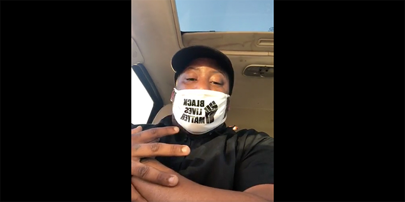 Taco Bell Black Lives Matter face mask video