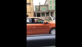 racist white driver