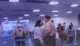 Miami airport cop hits Black woman video