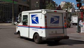 USPS mail van in New Orleans