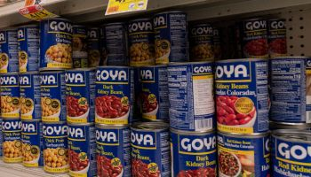 Products by Goya Foods Company seen on shelves of Stop&Shop...