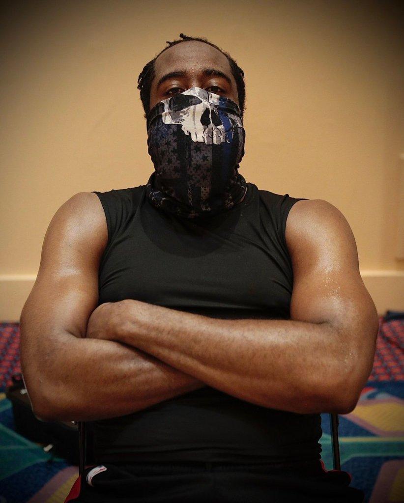 James Harden in pro-police mask