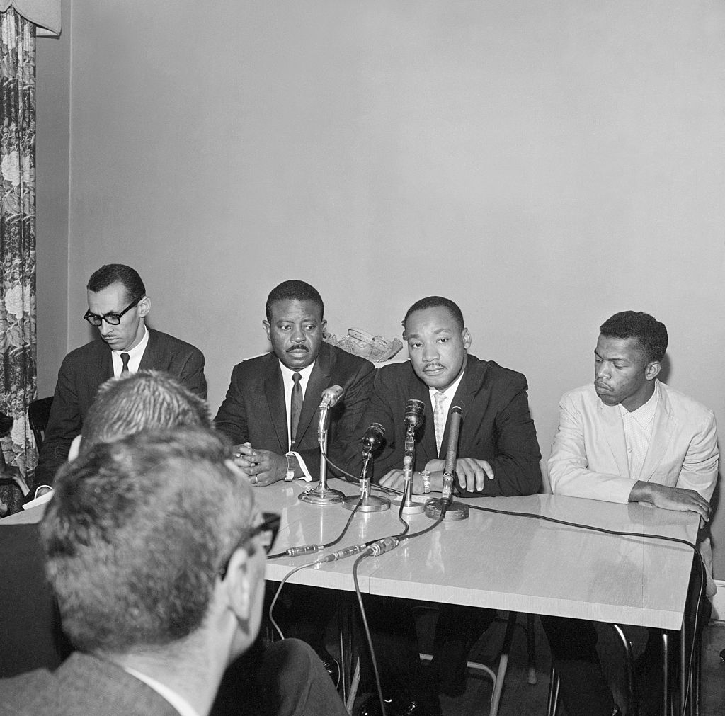 Freedom Rider Leaders Holding Press Conference