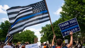 Pro-Police Trump Supporters Rally At Minnesota Governors Mansion