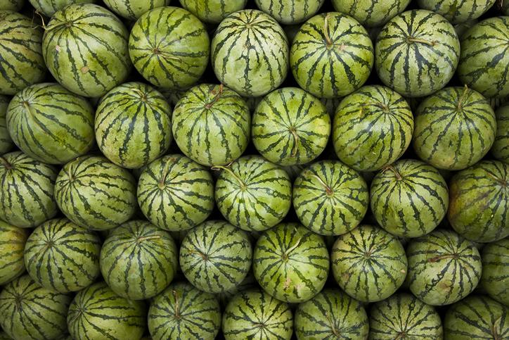 Full Frame Shot Of Watermelon At Market