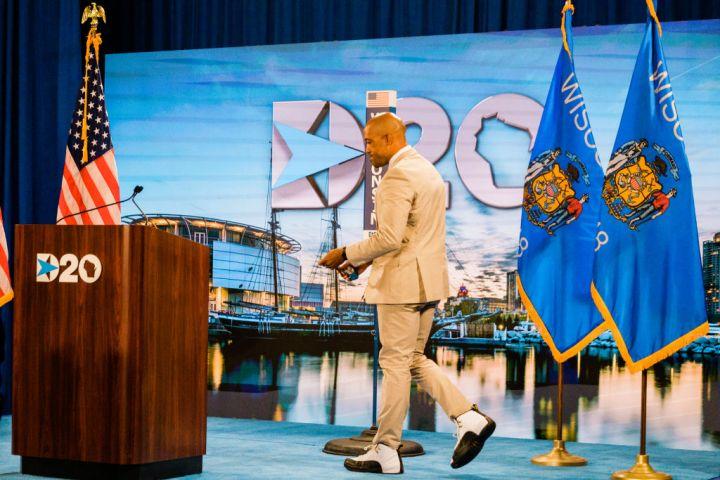 Day 2: Wisconsin Lt. Gov. Mandela Barnes wears Air Jordans