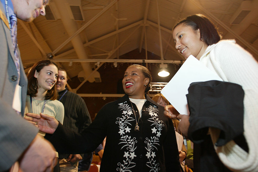 Carol Moseley Braun Campaigns in New Hampshire