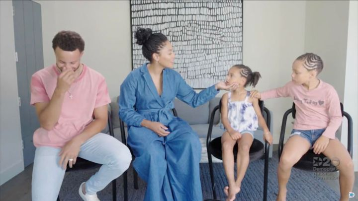 Day 4: Stephen Curry, his wife Ayesha Curry and children Ryan and Riley