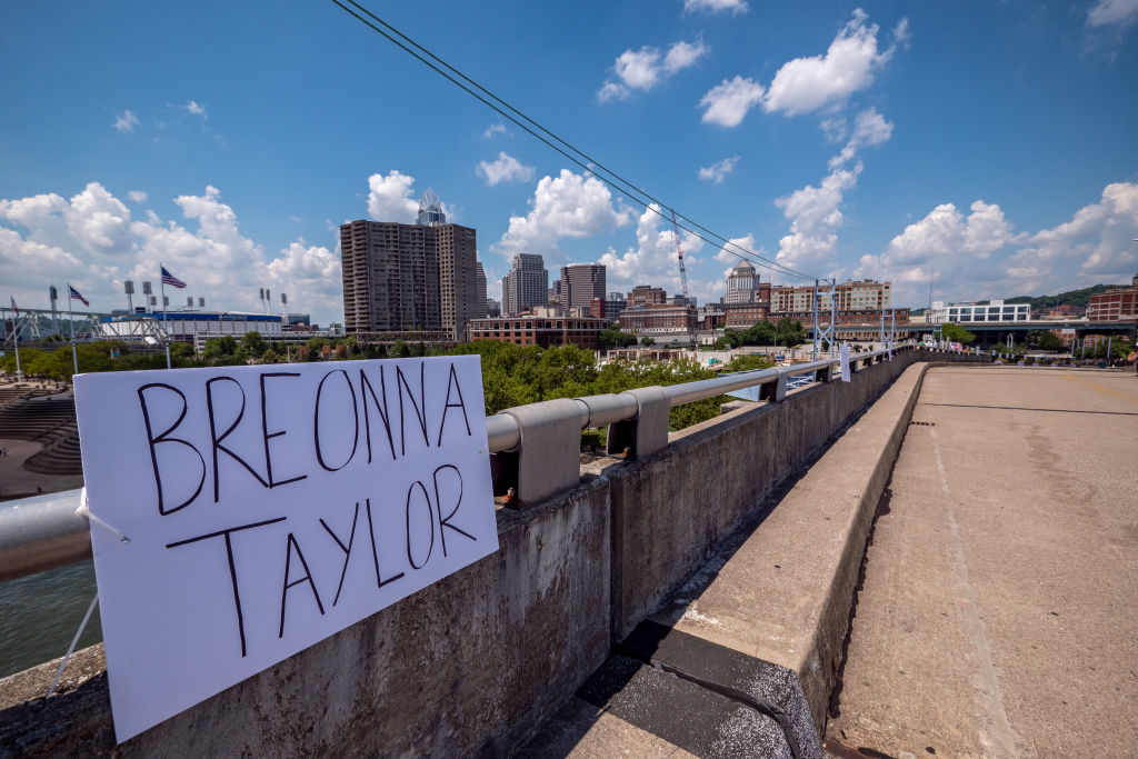 Breonna Taylor Protest In Cincinnati, Ohio, USA