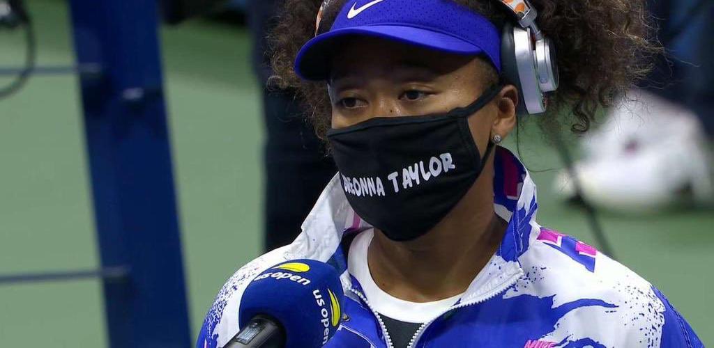 Naomi Osaka wearing Breonna Taylor mask at US Open 2020