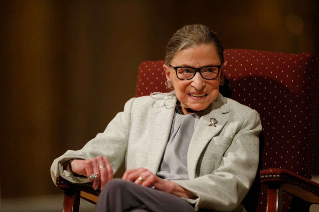 U.S. Supreme Court justice Ruth Bader Ginsburg speaks at Stanford University