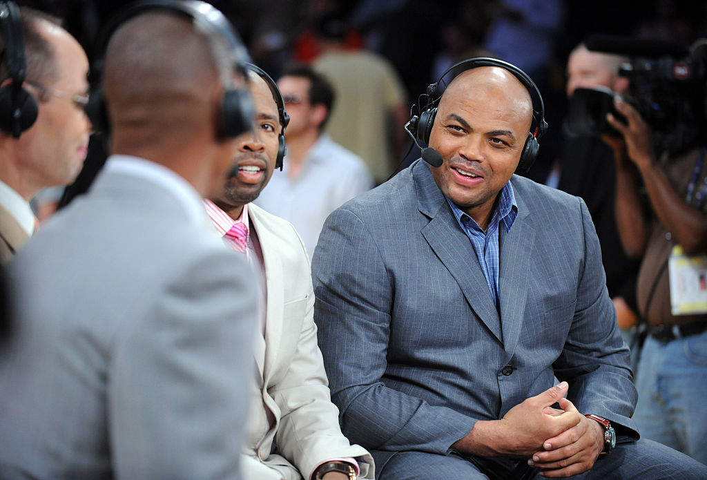TNT announcer Charles Barkley talks about the Lakers prior to playing against the San Antonio Spurs