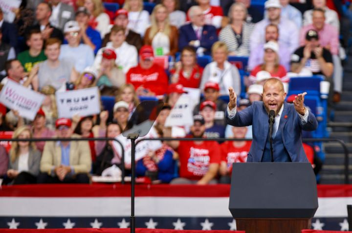 Brad Parscale speaks during a Keep America Great rally at...