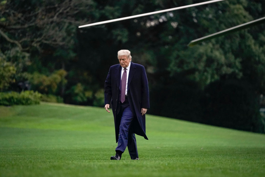 President Trump Returns To The White House From NJ