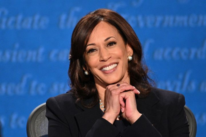 Kamala Harris Smiling at the Vice Presidential Debate