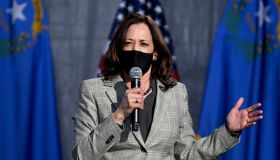 Democratic Vice Presidential Nominee Kamala Harris Campaigns In Nevada