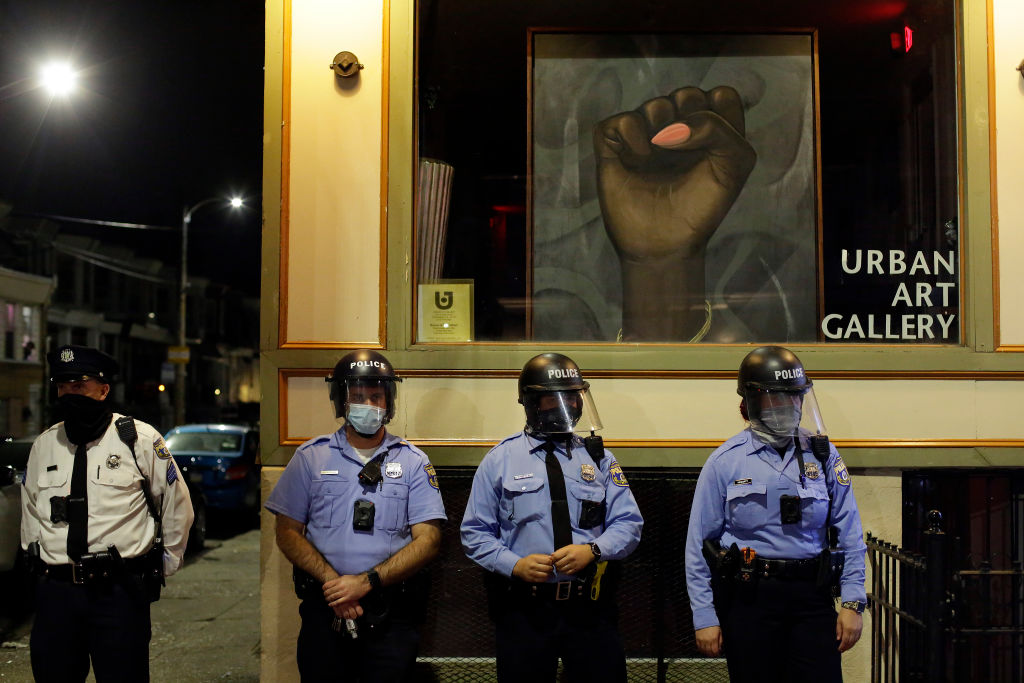 Demonstrators Protest The Fatal Police Shooting Of Walter Wallace Jr. In Philadelphia.