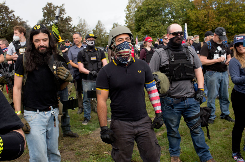 Proud Boys rally in Portland, Oregon