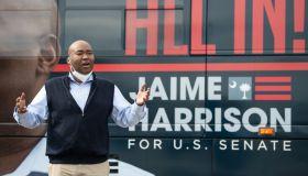 Democratic SC Senate Candidate Jaime Harrison Holds Campaign Bus Tour
