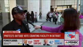 MSNBC Detroit black voter interview